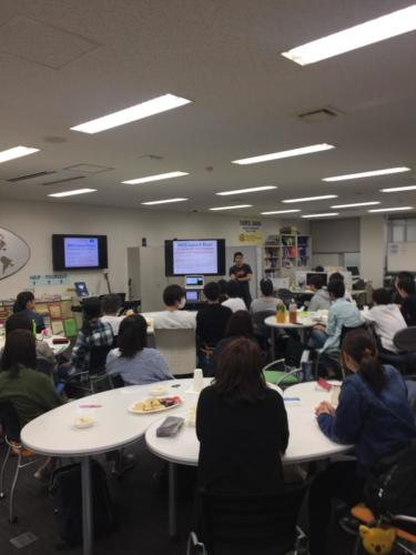 Kaishu talks to students about English changed his life.
